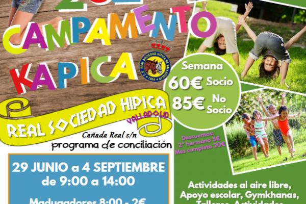 Cartel Campamento KAPICA 2020 para todos. - copia
